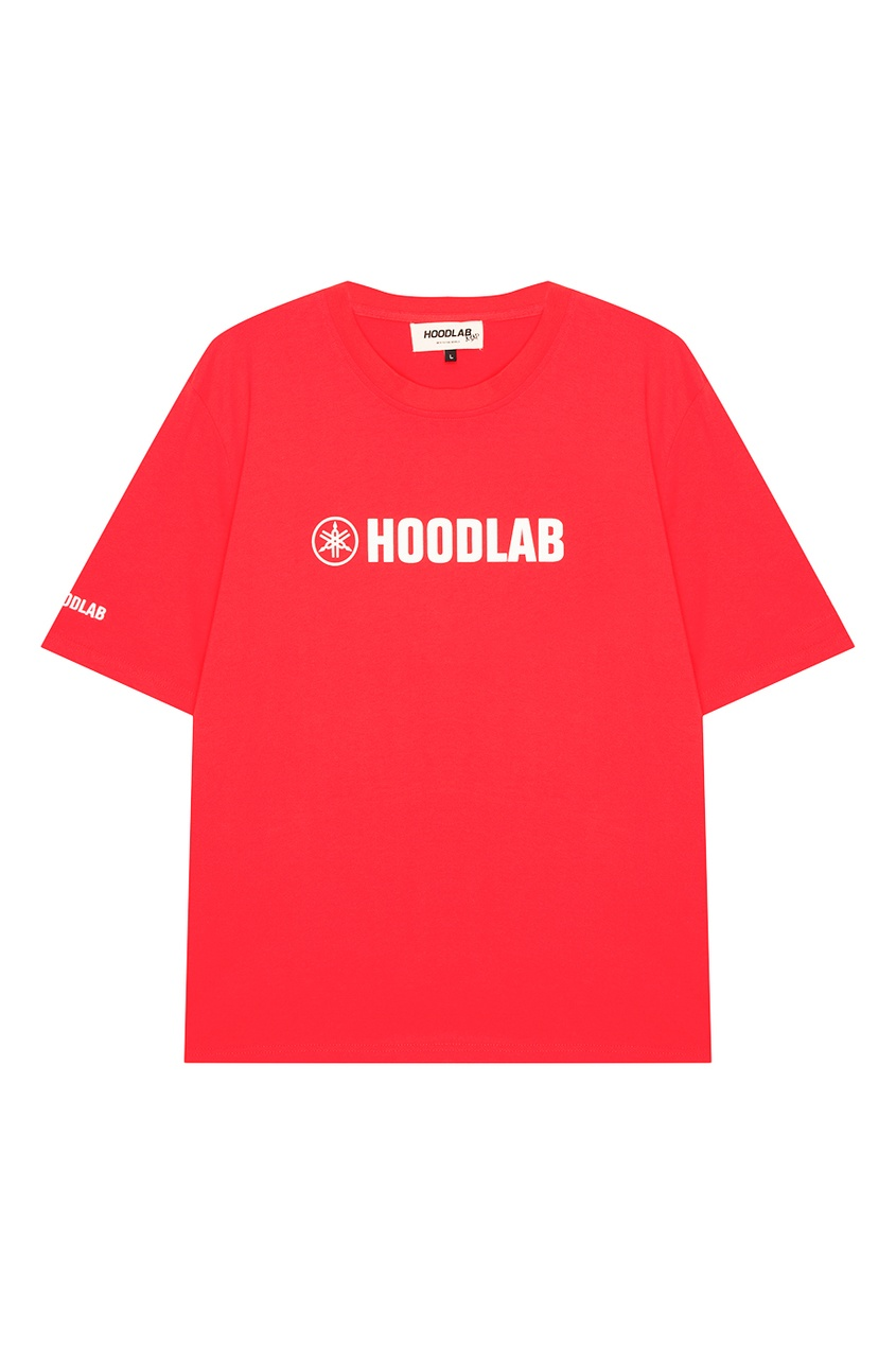 Hoodlab Красная хлопковая футболка с логотипом hoodlab хлопковый комбинезон с символикой