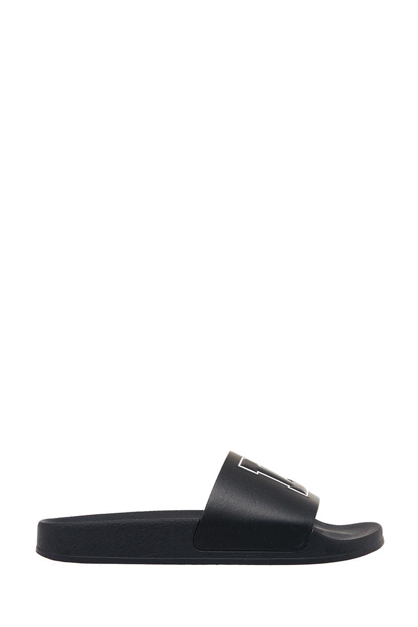 Joshua Sanders Черные сандалии с буквами