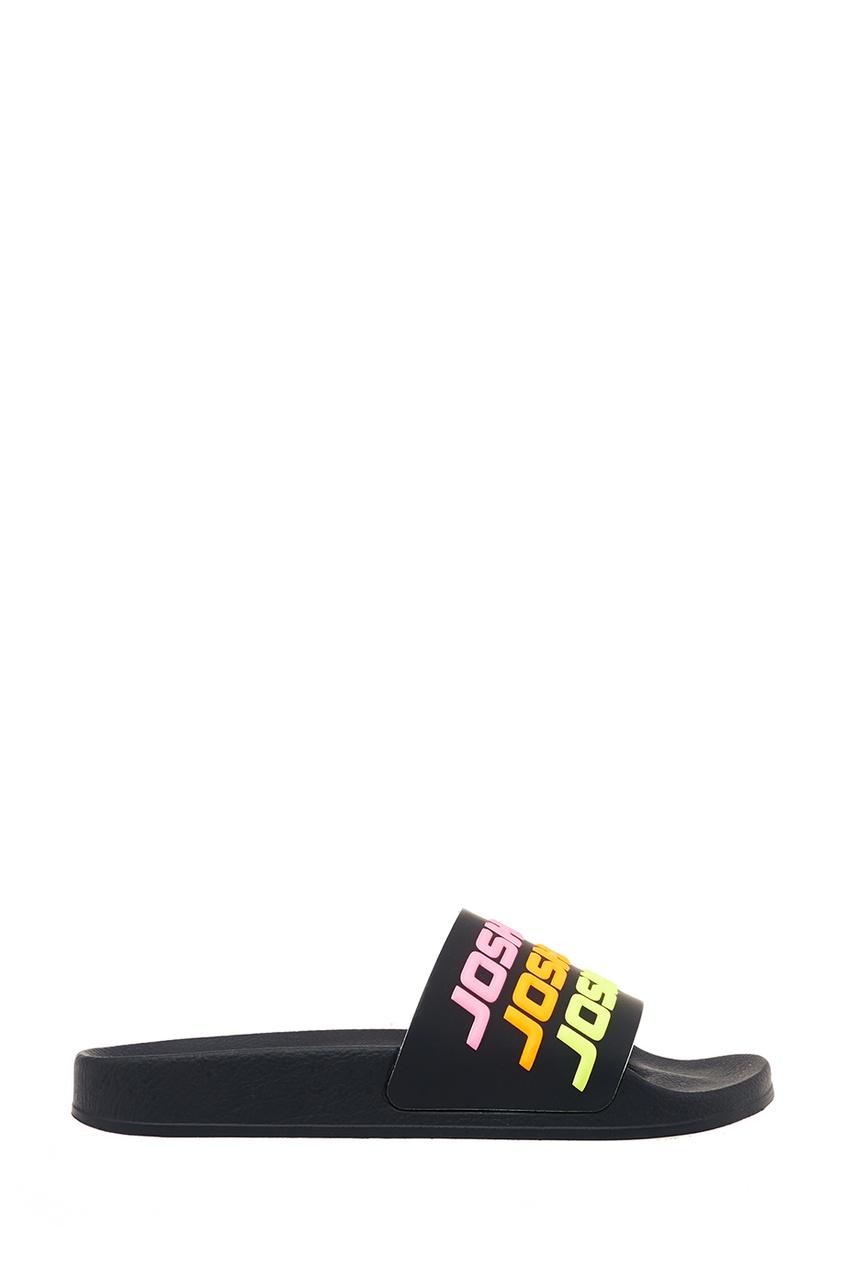 Joshua Sanders Черные сандалии с разноцветными логотипами