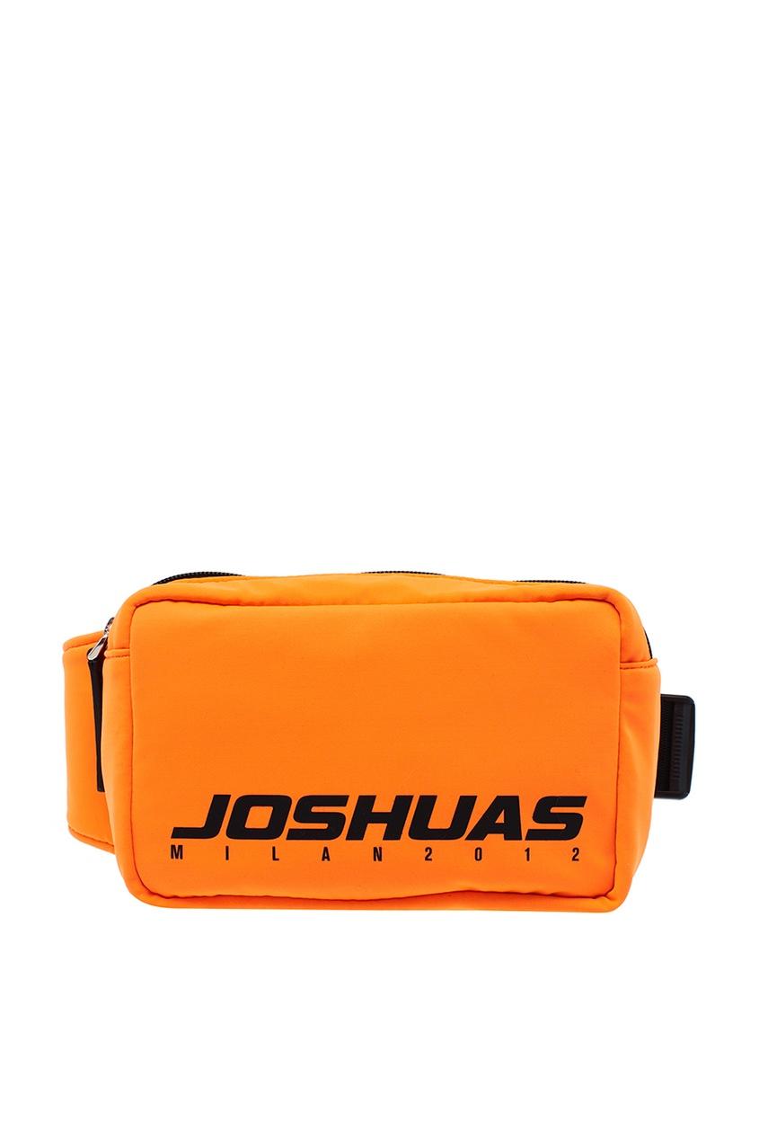 Joshua Sanders Оранжевая поясная сумка с логотипом