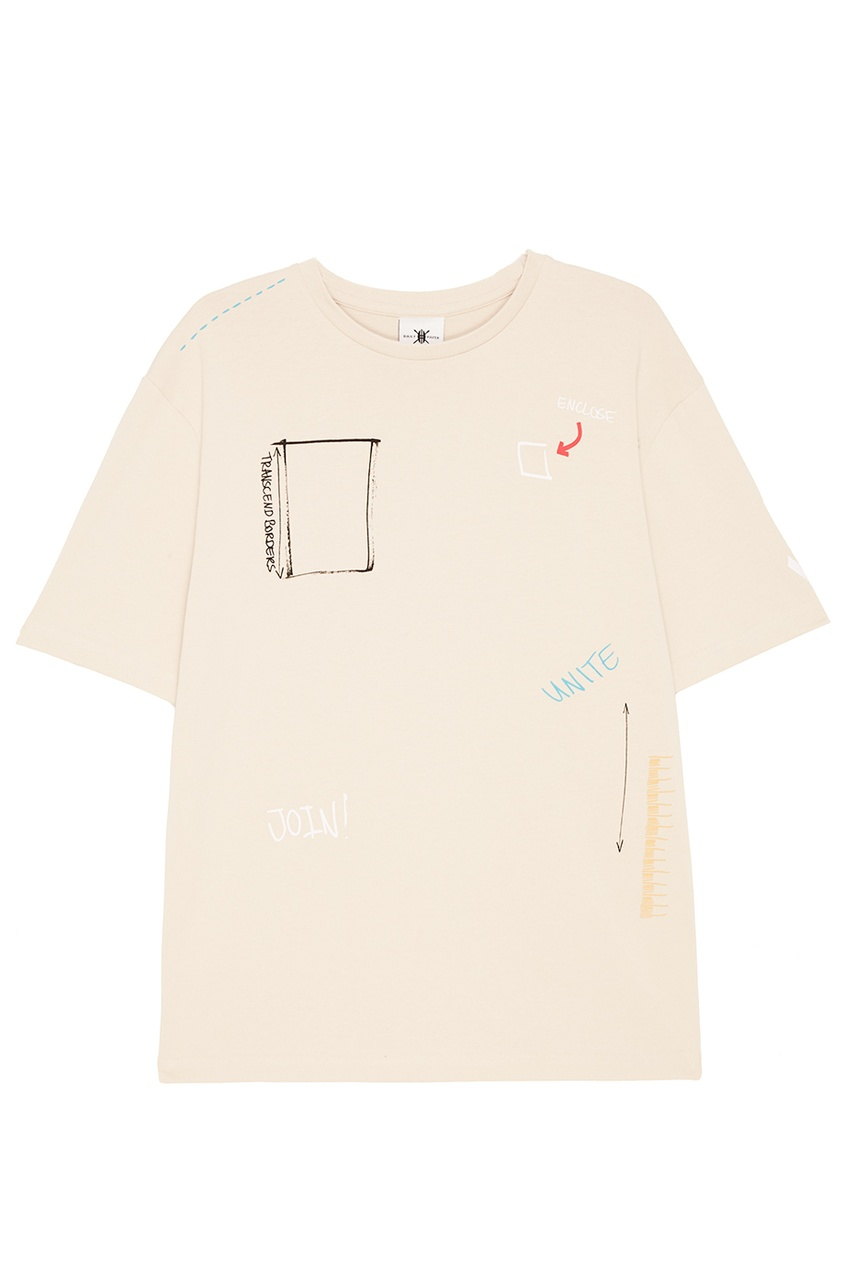 Daily Paper Футболка с графичным принтом футболка белая с принтом ido ут 00004169