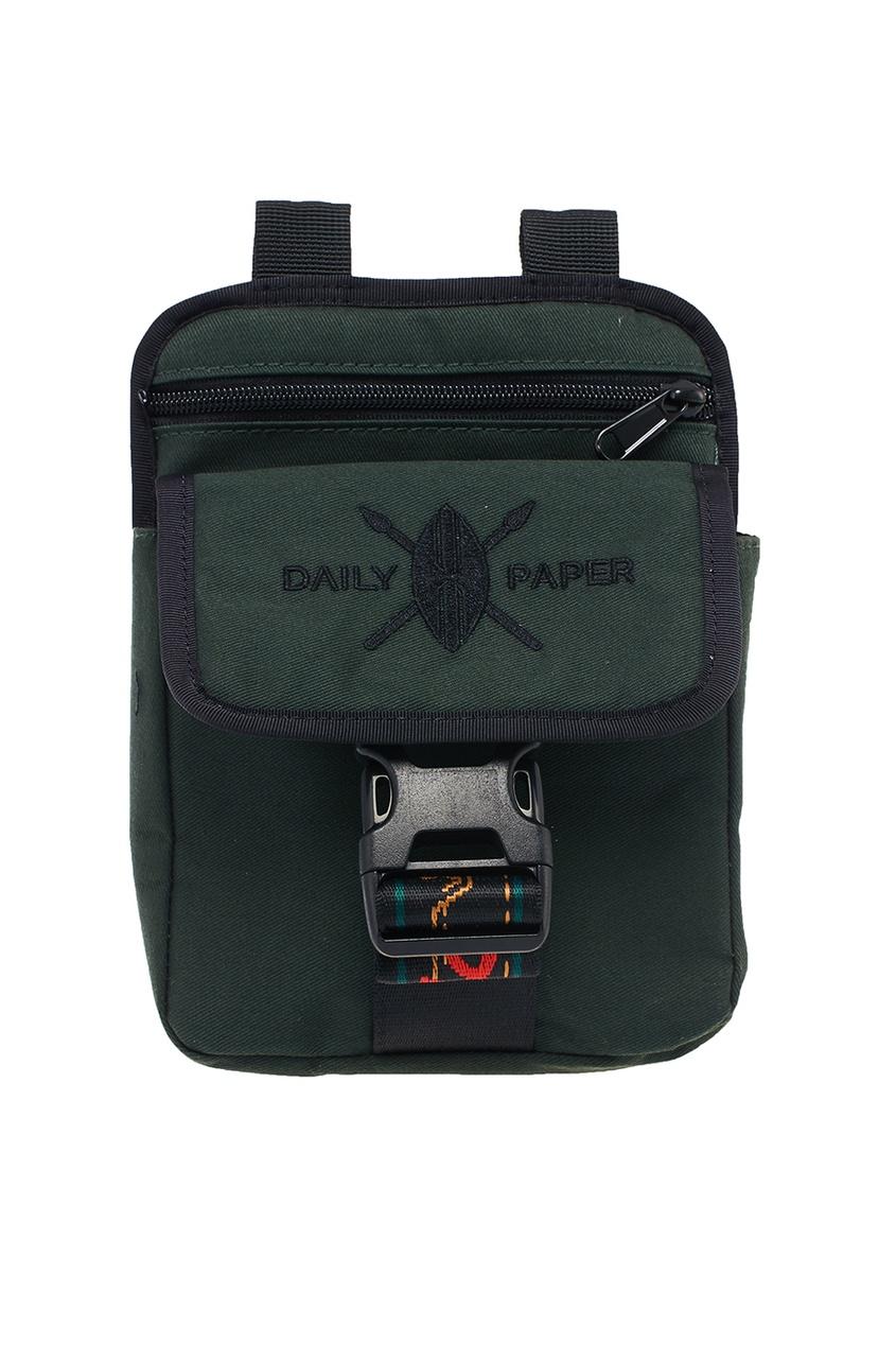 Зеленая сумка с вышивкой