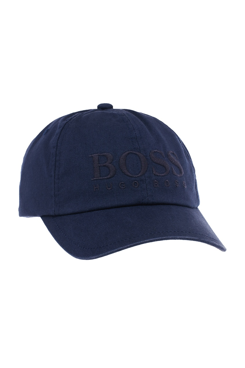 Boss Orange Синяя хлопковая кепка с вышитым логотипом очки солнцезащитные boss orange boss orange bo456dwycl39