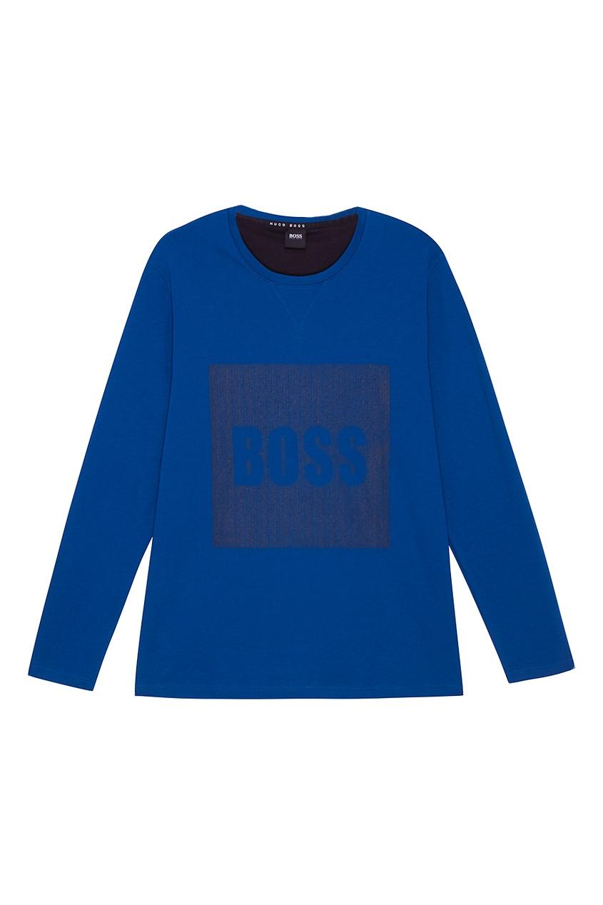 мужская пижама boss, синяя
