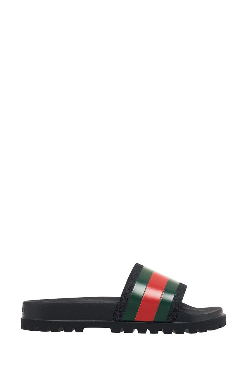мужские сандалии gucci, черные