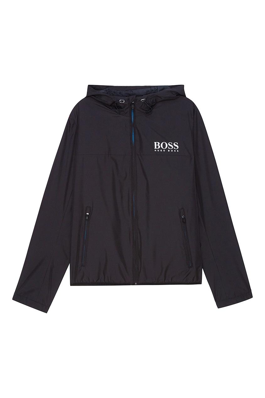 BOSS Черная куртка с капюшоном