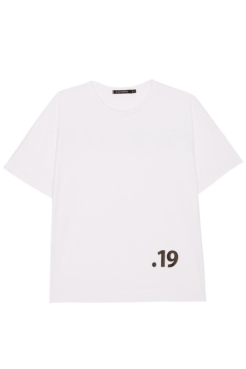 Белая хлопковая футболка с цифрой