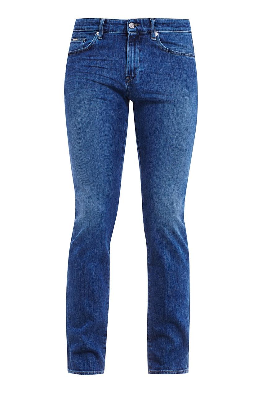 BOSS Синие джинсы с серебристыми заклепками boss orange синие потертые джинсы