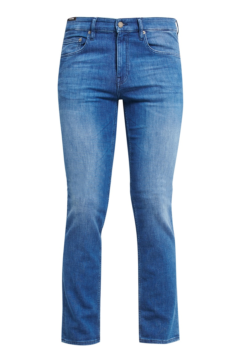 Boss Orange Синие потертые джинсы очки солнцезащитные boss orange boss orange bo456dwycl39
