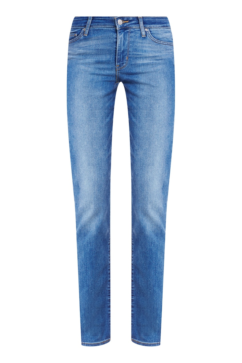 Синие джинсы с выбеливанием 714 STRAIGHT BACKTRACK