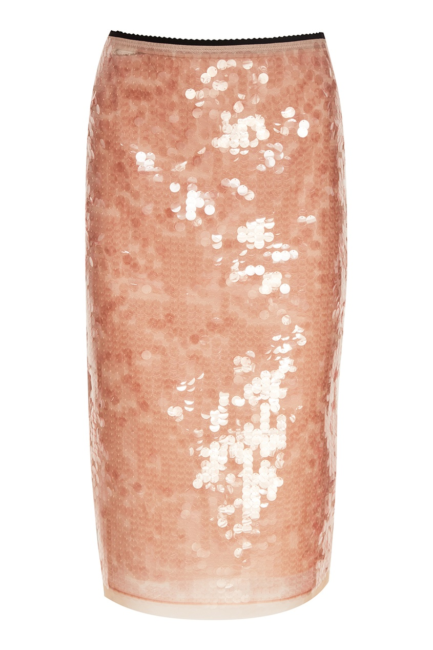 No.21 Розовая юбка с пайетками no name юбка с золотистыми пайетками