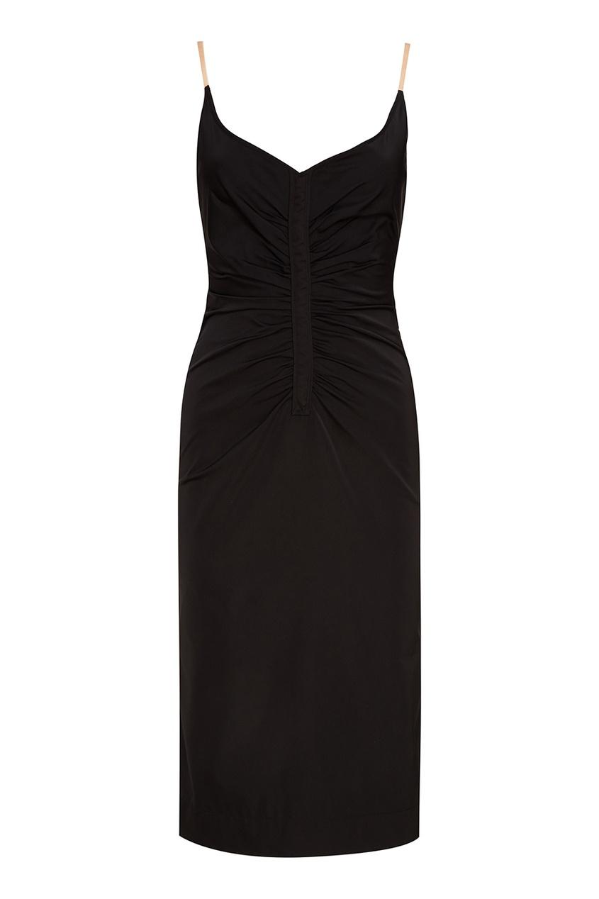 No.21 Черное платье с драпировками платье черное с паетками 44