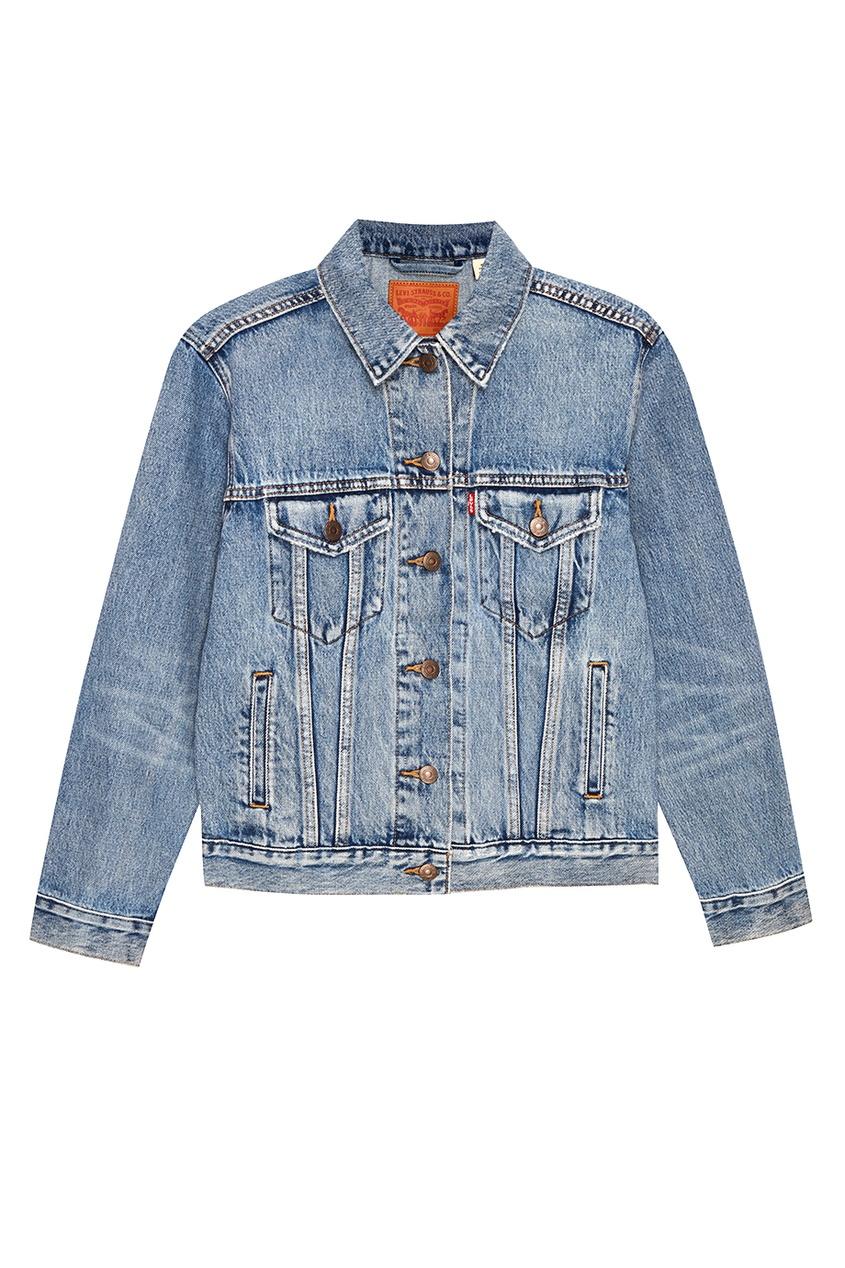 Levi's® Голубая куртка EXBOYFRIEND TRUCKER INDIGO ANTHE