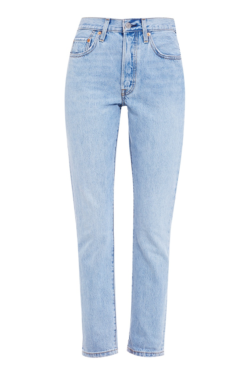 Levi's® Голубые выбеленные джинсы 501 SKINNY LOVEFOOL джинсы levi's® 2183400060