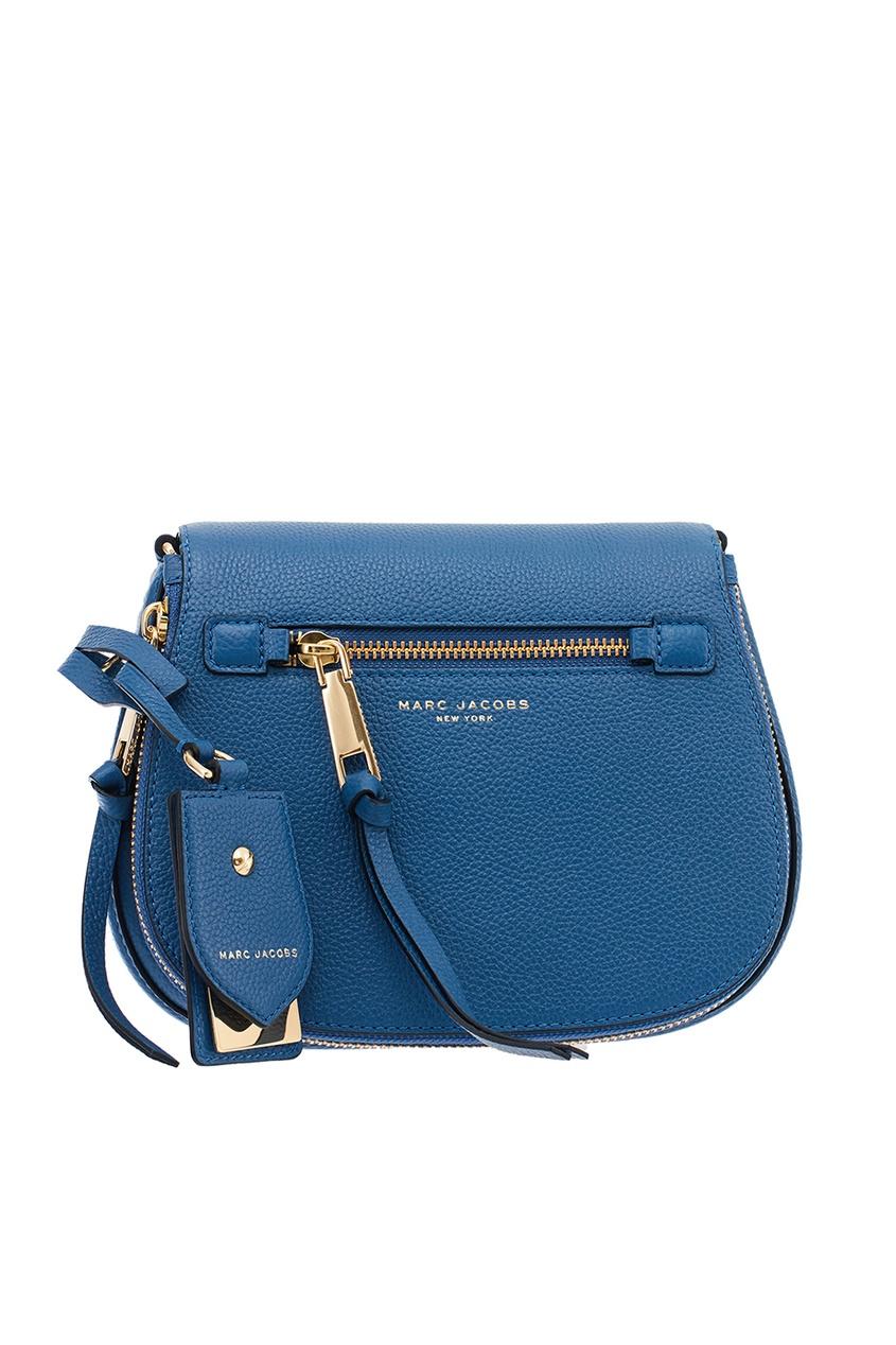 Marc Jacobs Синяя сумка из текстурированной кожи Nomad marc jacobs маленькая седельная сумка nomad