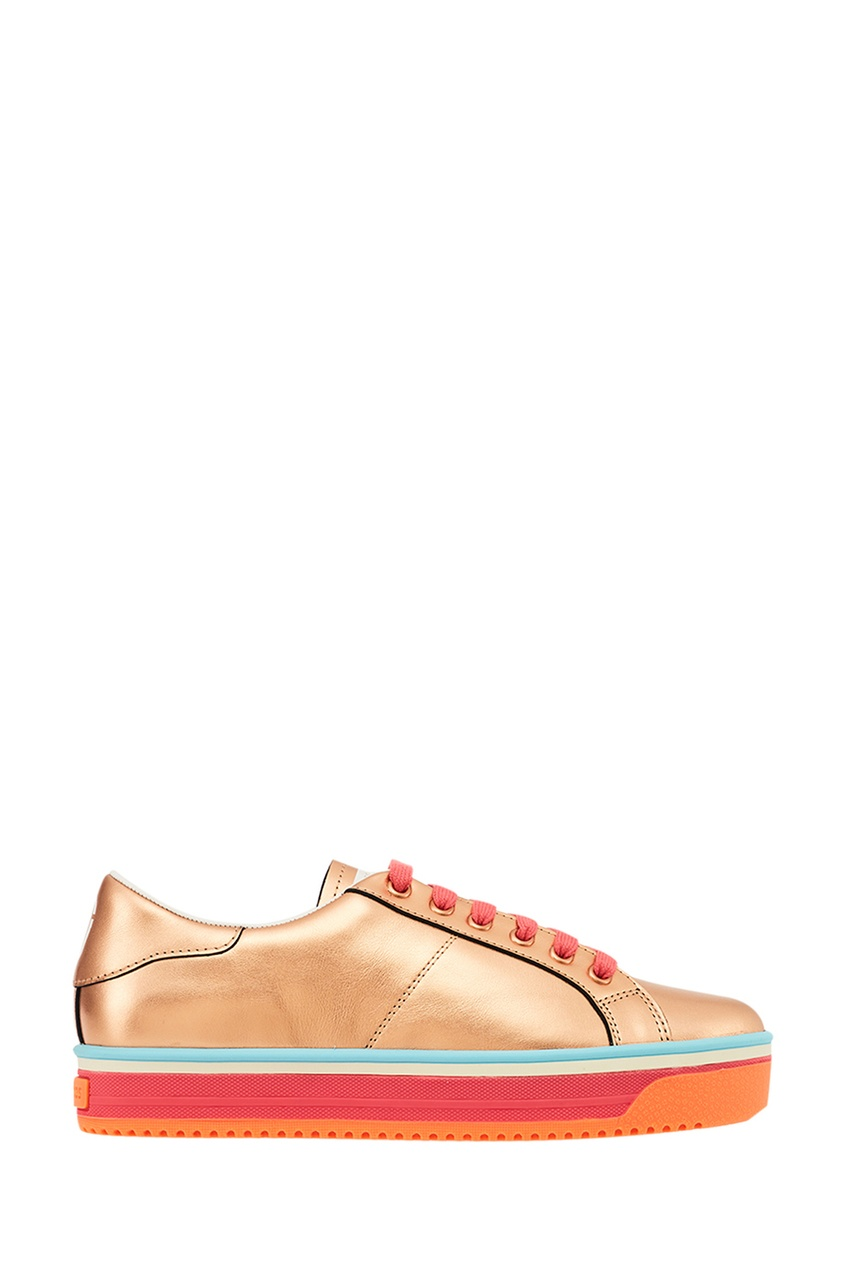 Marc Jacobs Кожаные кеды цвета розового золота кеды marc jacobs marc jacobs ma298amuaq36