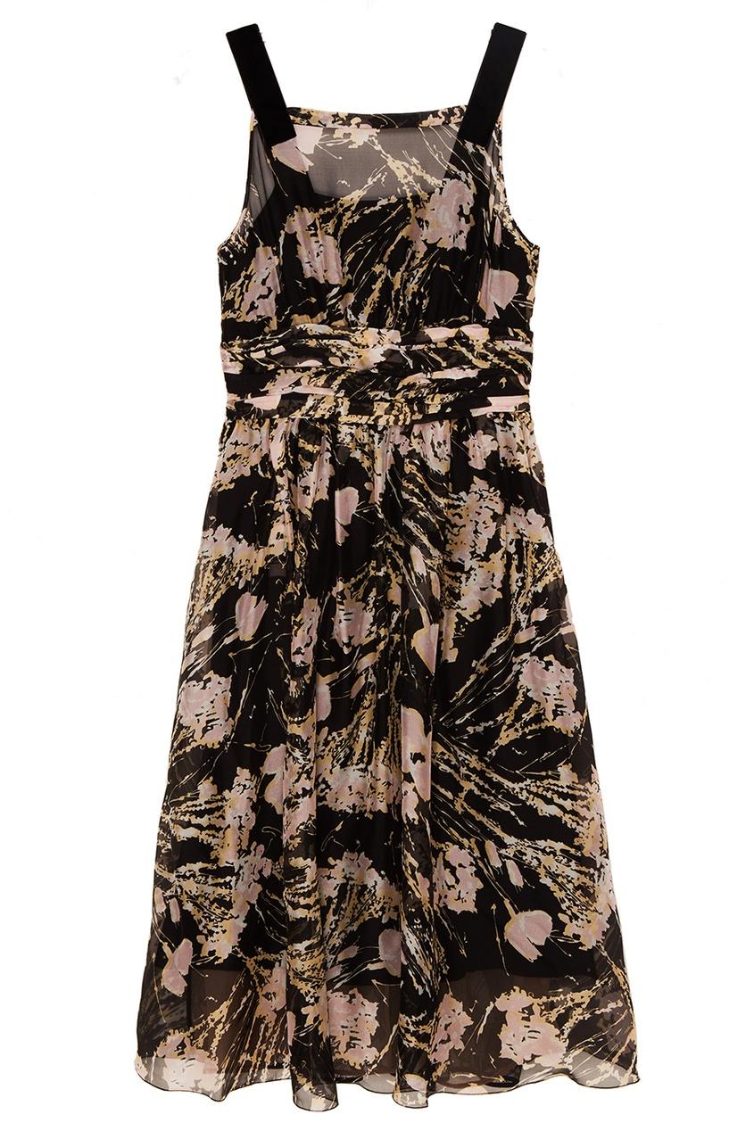 No.21 Шелковое платье с абстрактным принтом no name платье с принтом