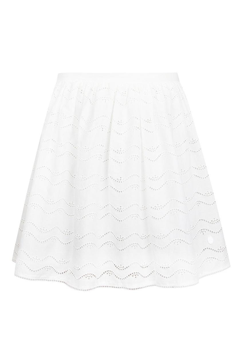 Ажурная юбка из хлопка