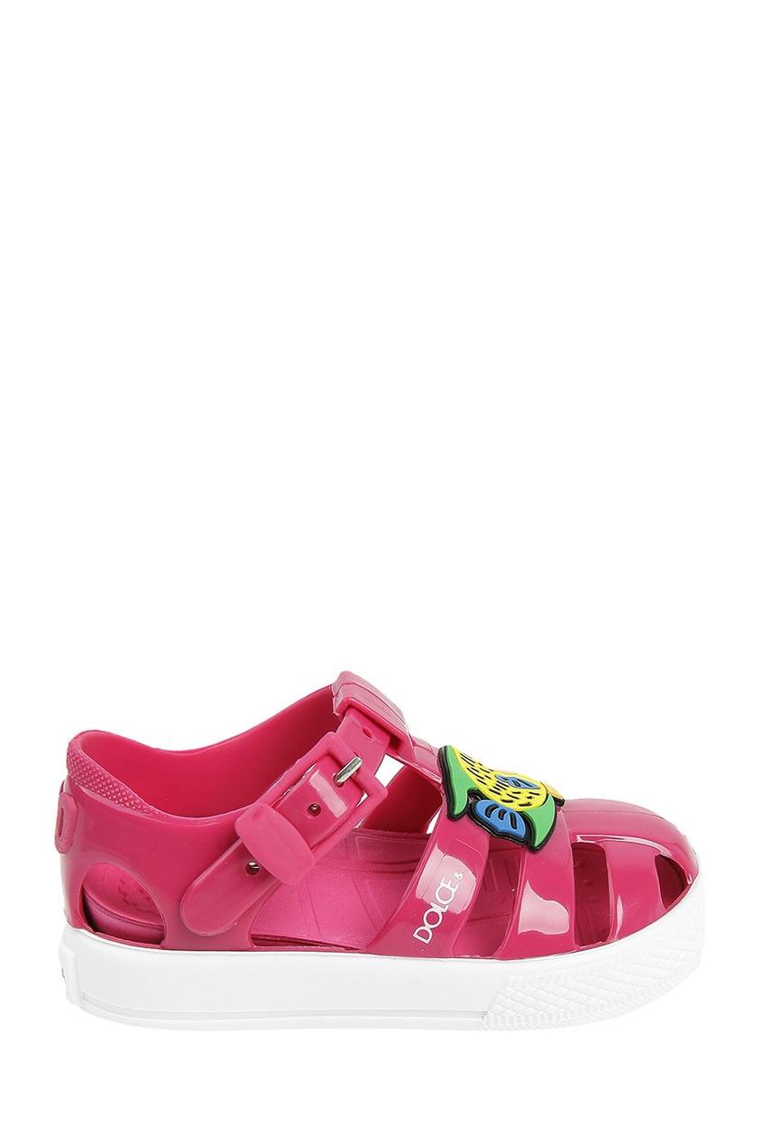Розовые сандалии с рыбками