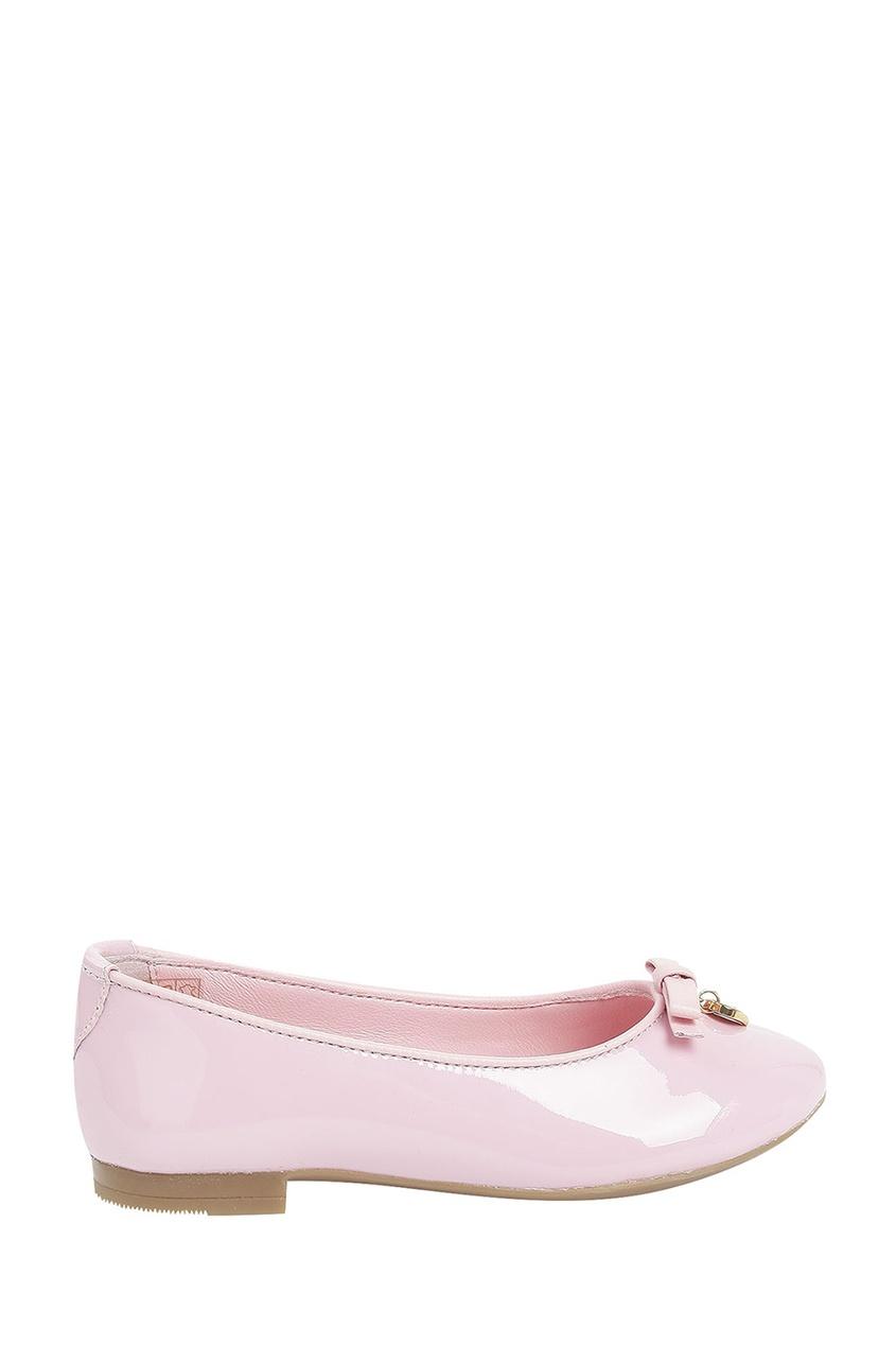 Розовые туфли с бантом и подвеской