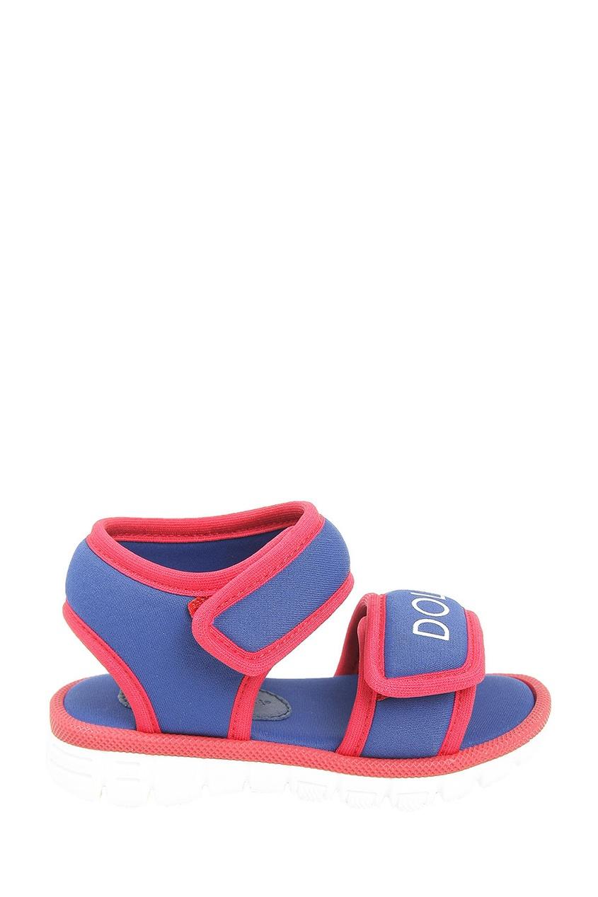 Цветные текстильные сандалии