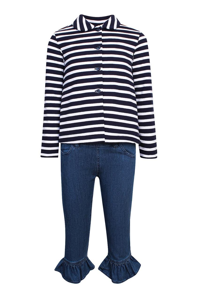 Комплект с джинсами, жакетом и футболкой