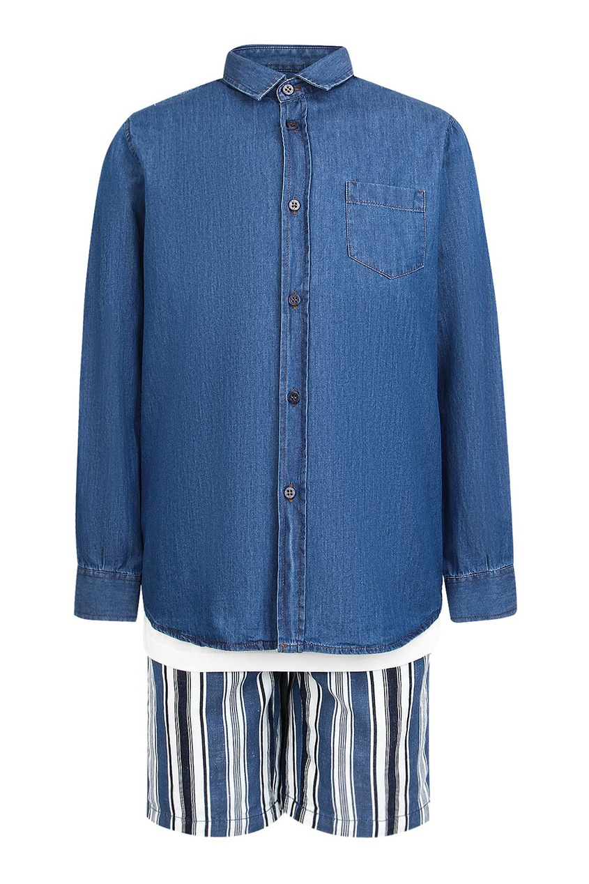 il Gufo Комплект с шортами, футболкой и рубашкой футболка il gufo il gufo il003egrho64