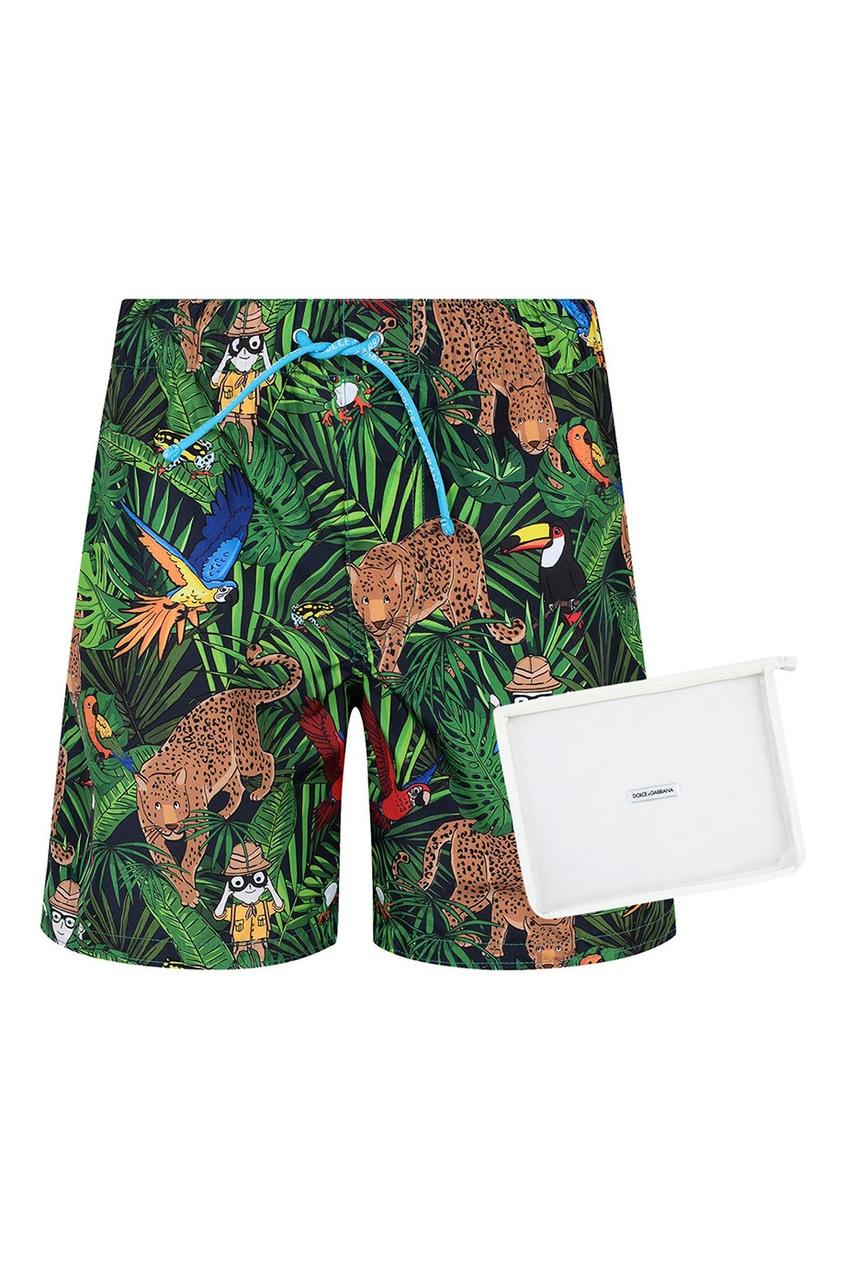 Dolce&Gabbana Children Пляжные шорты с принтом dior children шорты