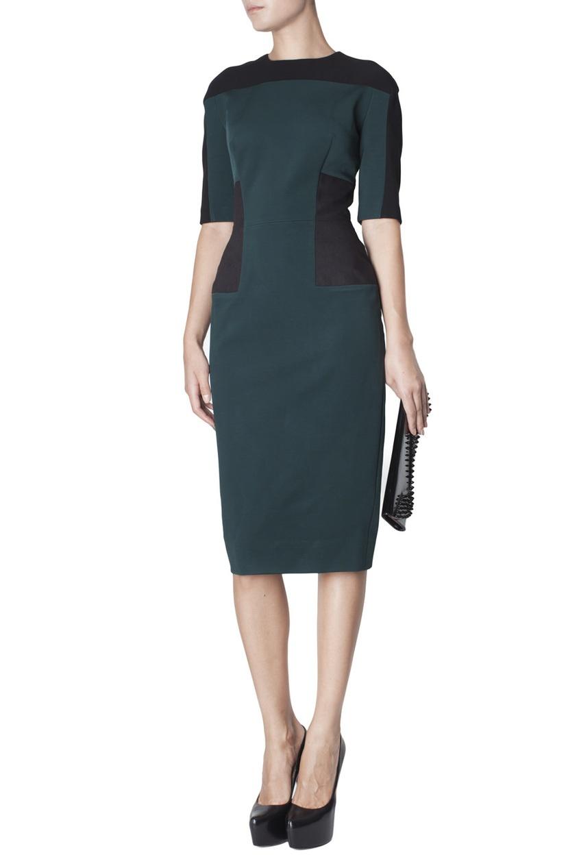 Платье-футляр с молнией на спине Victoria Beckham