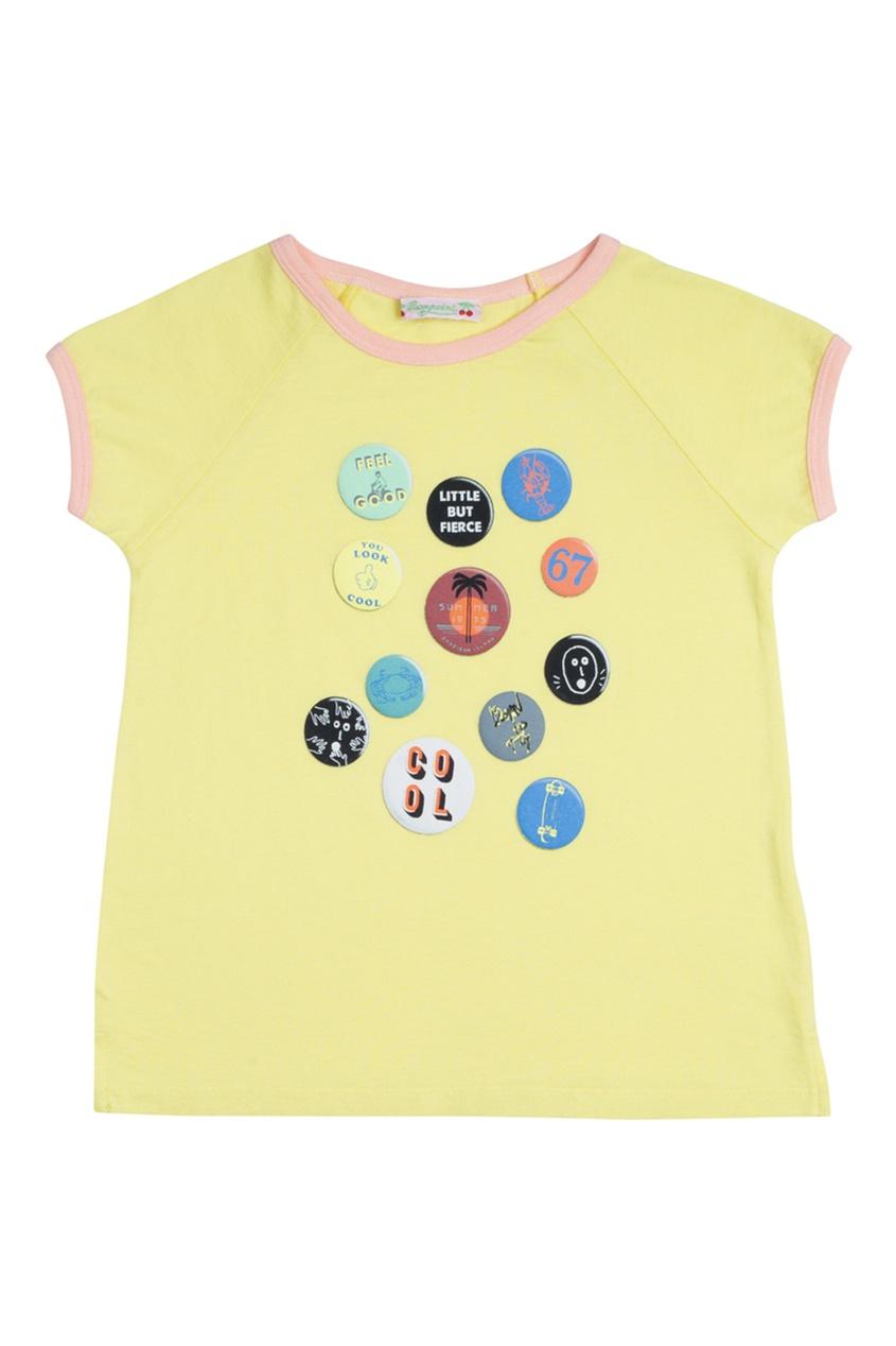 Хлопковая желтая футболка