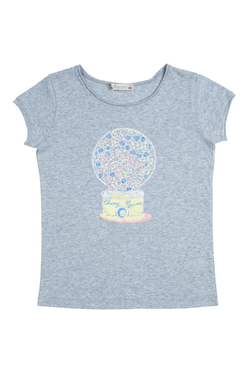 Хлопковая серая футболка