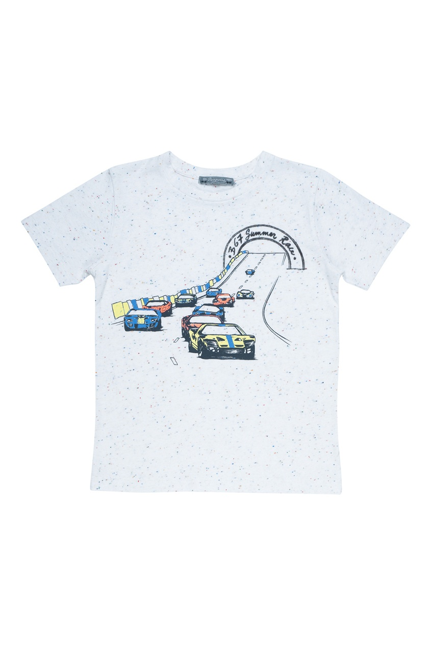 Bonpoint Хлопковая белая футболка футболка белая с принтом ido ут 00011957