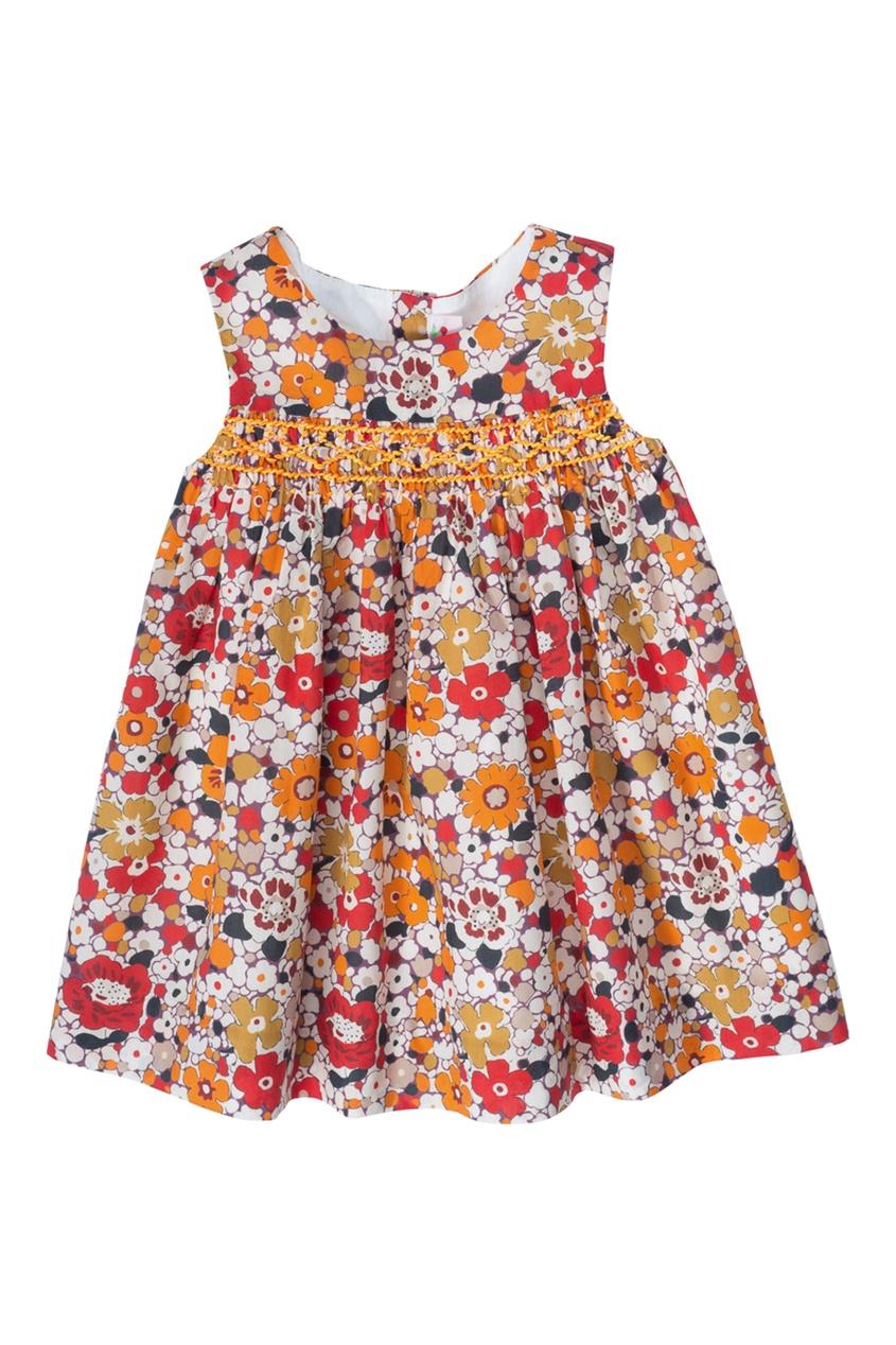Bonpoint Платье с принтом CLOTHI bonpoint кожаный портфель с контрастными деталями