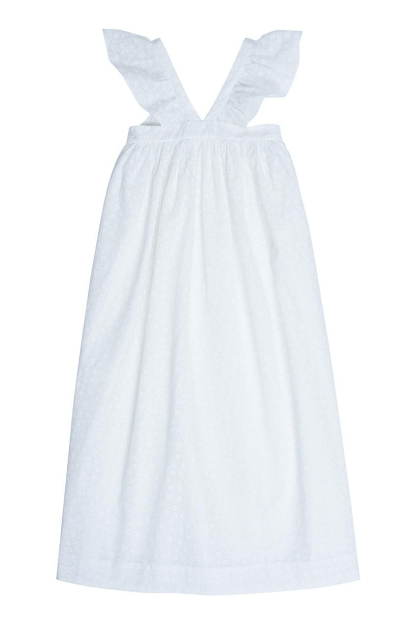 Bonpoint Хлопковое белое платье ELEANIE