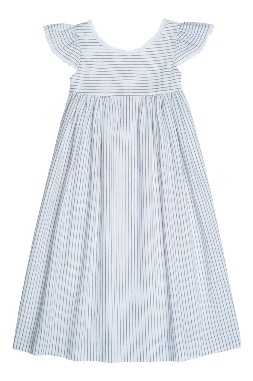 Bonpoint Хлопковое платье в полоску GALANTE2