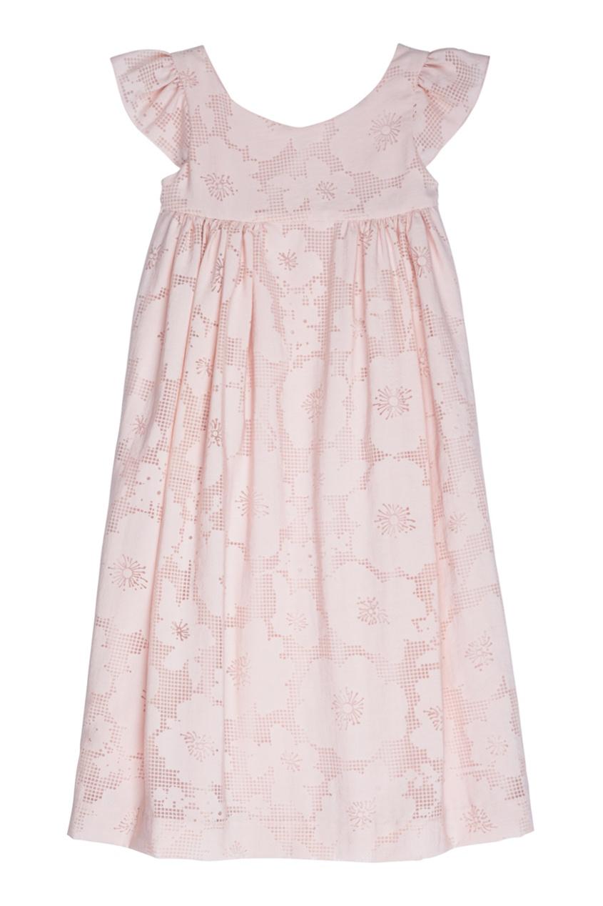 Bonpoint Розовое платье в цветочек GALANTE3