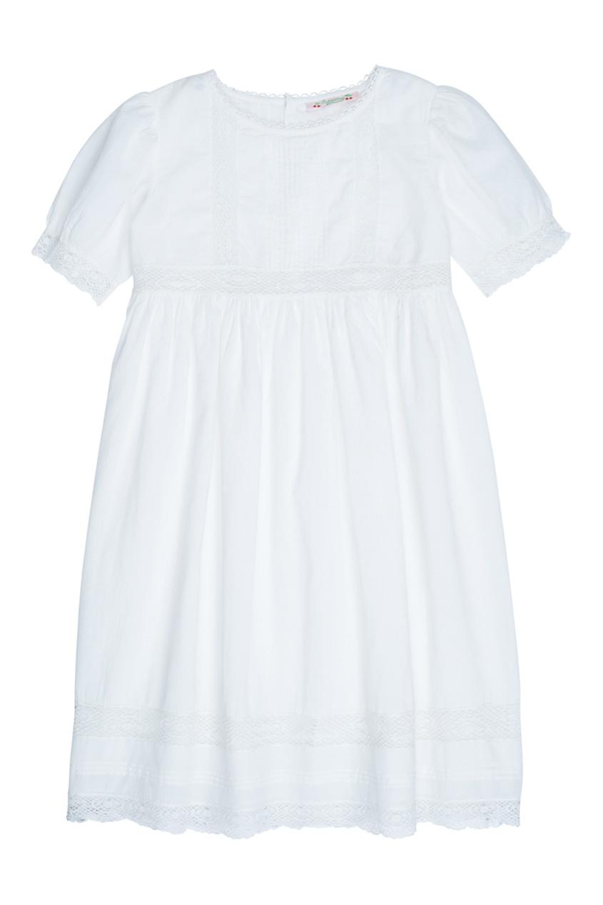 Bonpoint Хлопковое белое платье GEMMA cosmos bride платье gemma