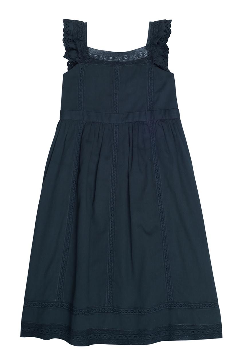 Bonpoint Хлопковое черное платье GIGI черное платье карандаш 46