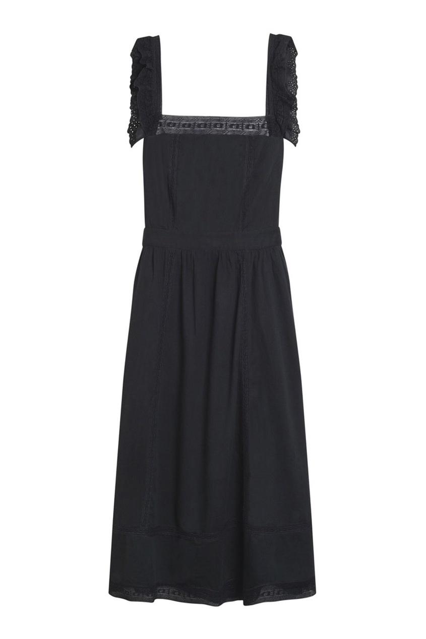 Bonpoint Хлопковое черное платье GIGIY платье черное с паетками 44
