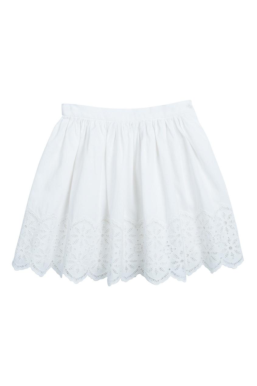 Bonpoint Хлопковая белая юбка DIXIE bonpoint кожаный портфель с контрастными деталями