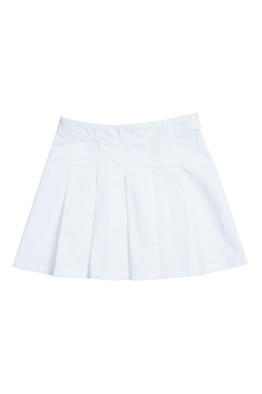 Белая хлопковая юбка GEENA