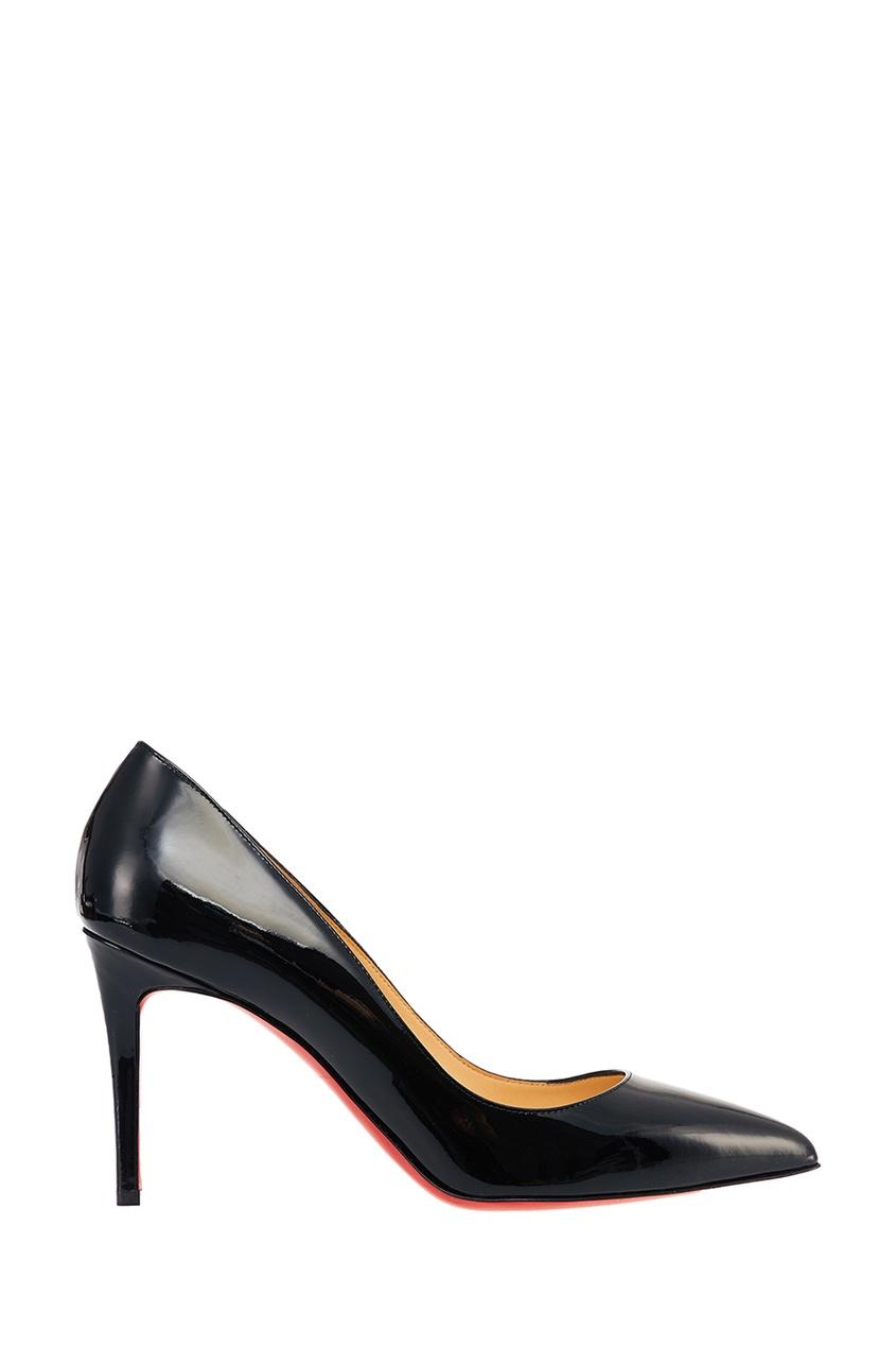 Лакированные черные туфли Pigalle 85 Christian Louboutin