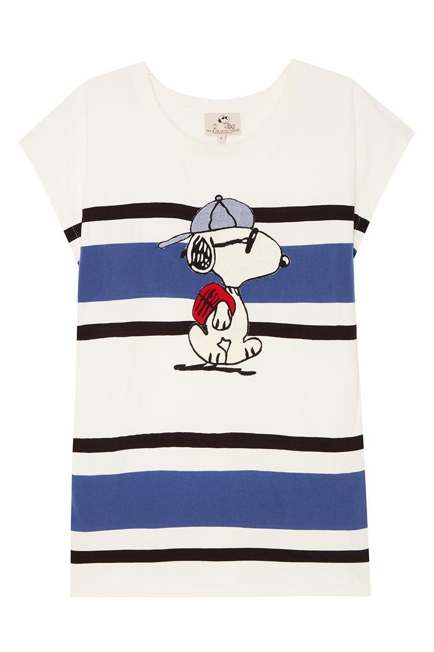 Купить со скидкой Хлопковая футболка в полоску