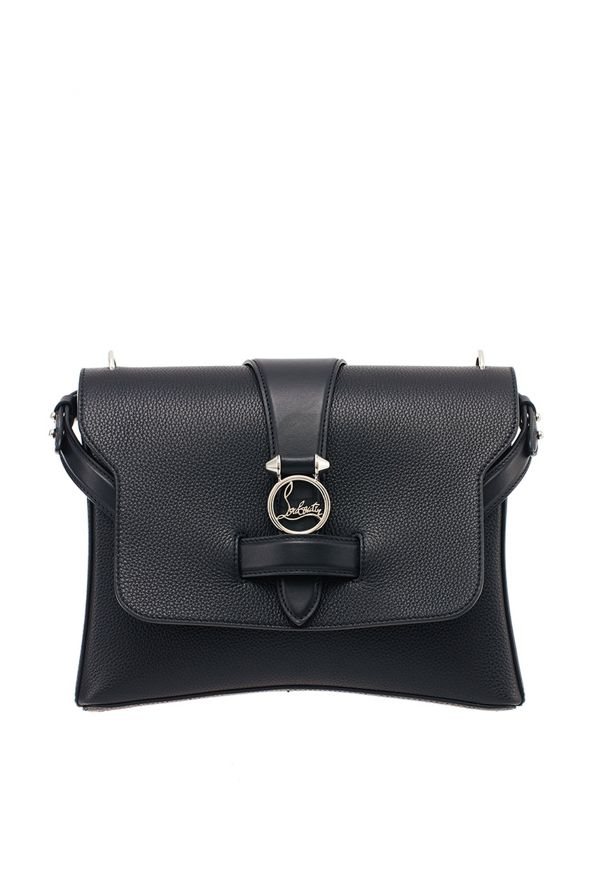 Черная кожаная сумка Rubylou Medium Christian Louboutin