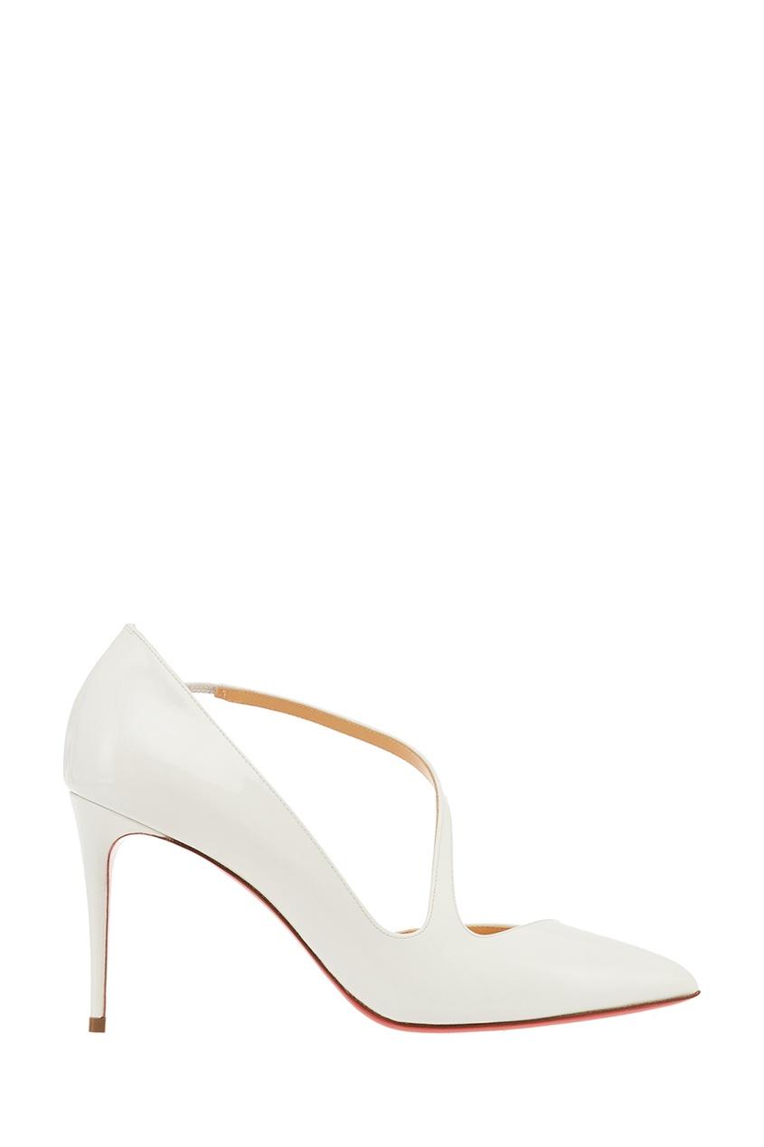 Лакированные белые туфли Jumping 85 Christian Louboutin
