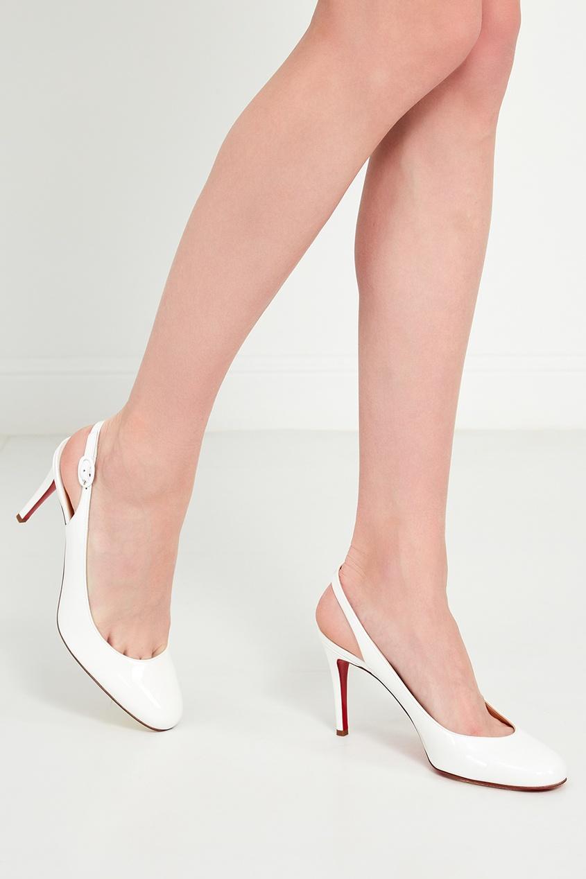 женские туфли christian louboutin, белые