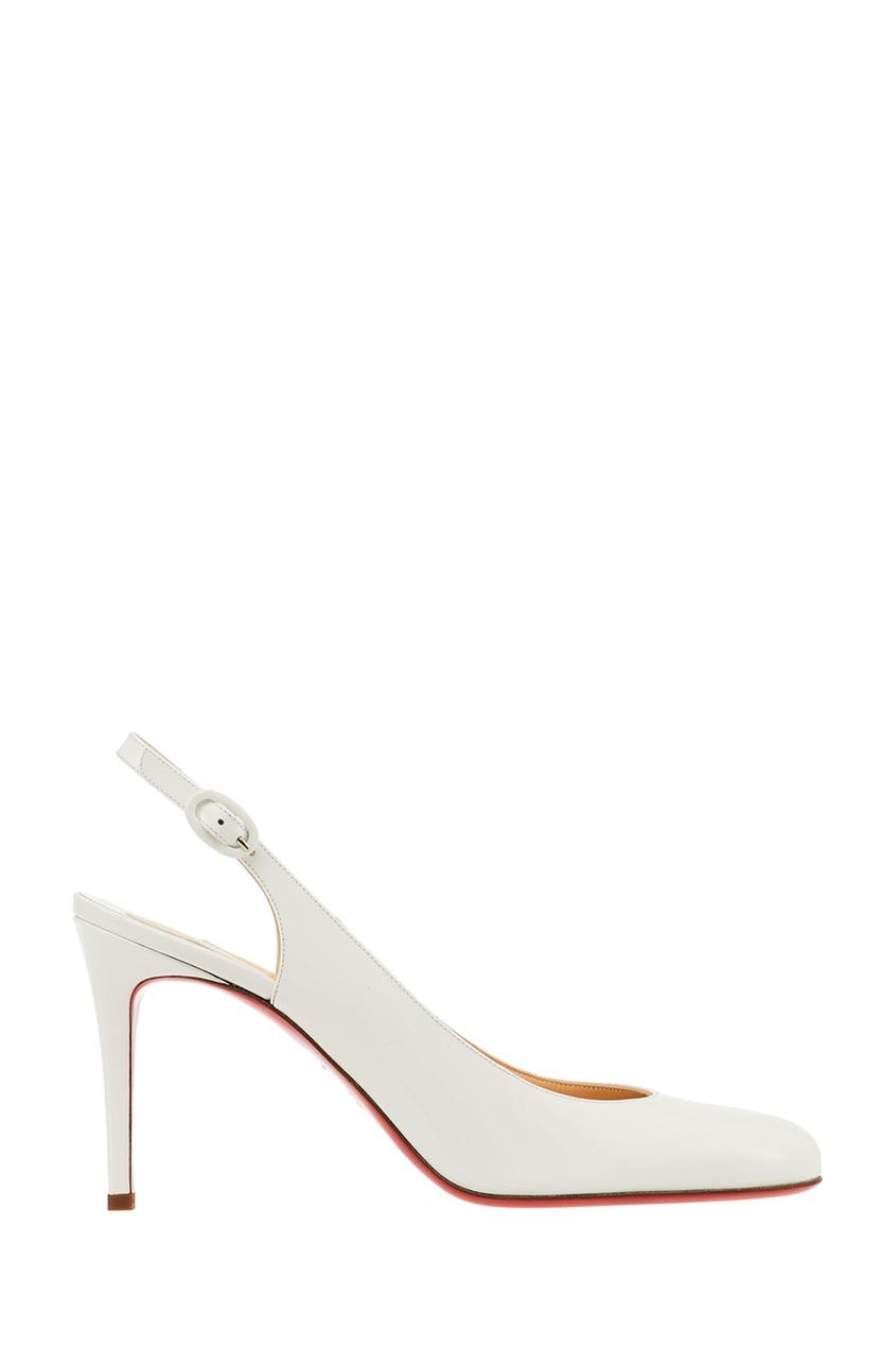 Белые туфли Miss Gena Sling 85