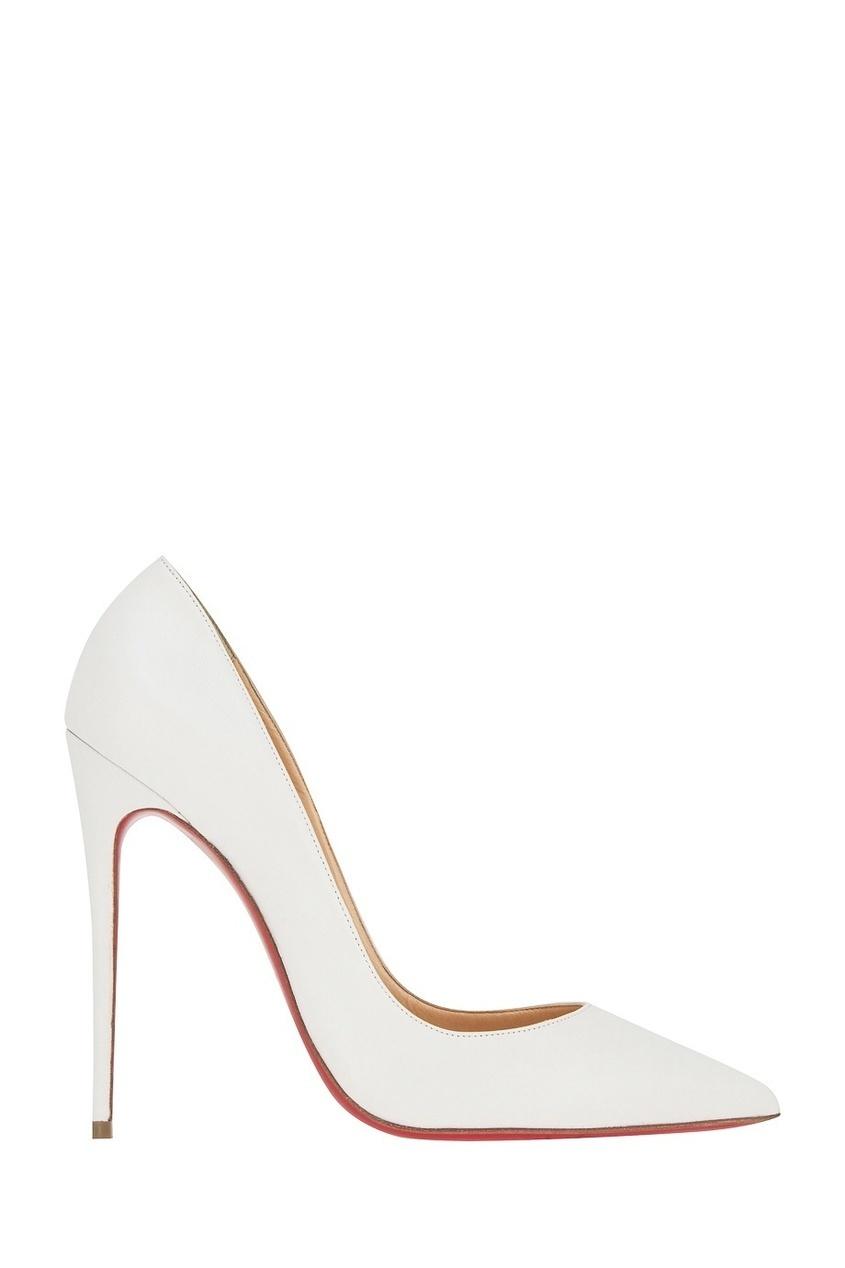 Christian Louboutin Белые кожаные туфли Corneille 100