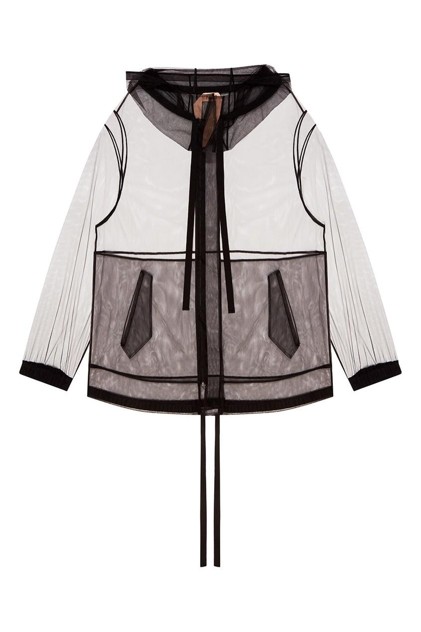 Куртка-анорак из черной сетки