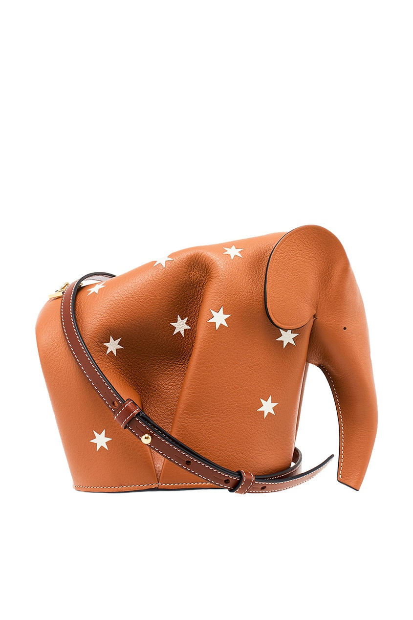 Купить со скидкой Сумка из коричневой кожи со звездами Elephant